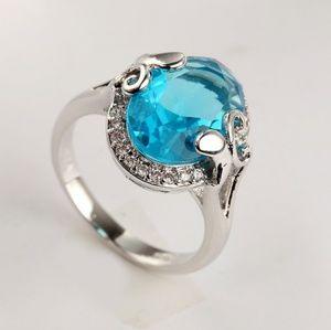 Jewelry - AMAZING BLUE TOPAZ/WHT SAPPHIRE & .925 SS RING